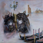 Sylviane Petit - Venice up and  its  carnival