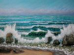 Sandra Francis - Crashing Waves on the Rocks