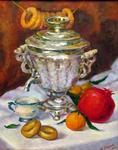 Tanya Andreeva - oil painting still life with samovar
