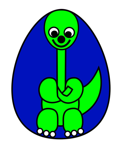Artwork >> Asbjorn Lonvig >> Dinosaur Baby - What are you waiting for?