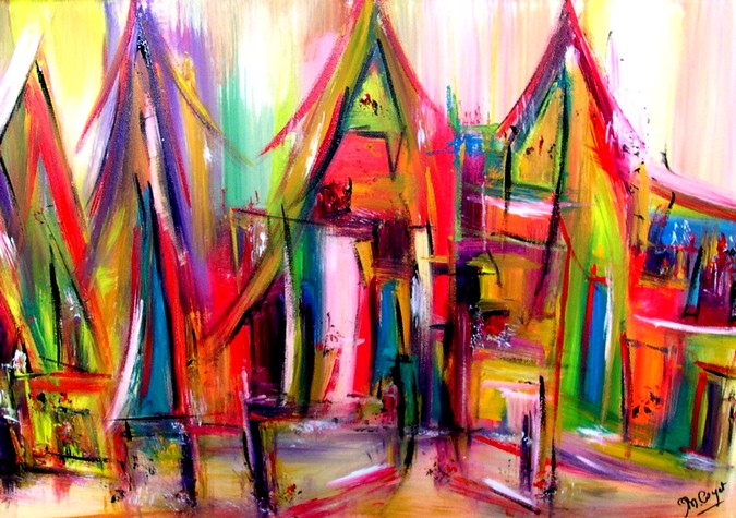 Artwork >> Muriel Cayet >> the Village the  thousand  drapes