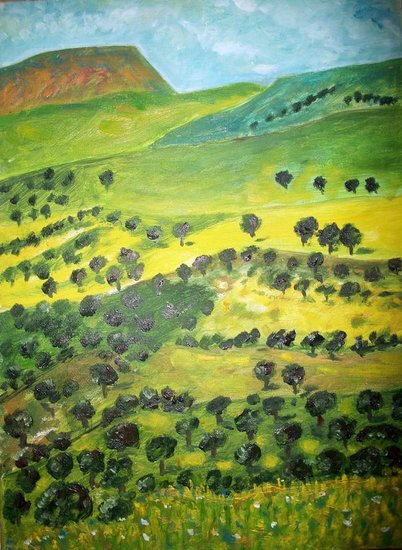 Artwork >> Nour Eddine 44 >> The valley of olive trees