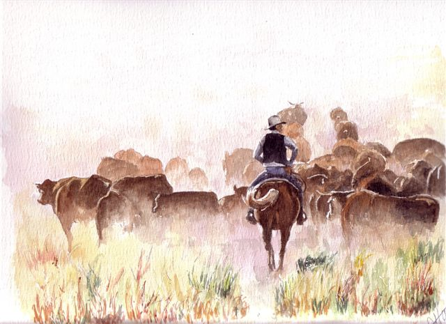 Artwork >> Hauet Gérard >> Cowboys