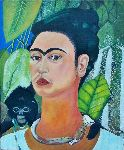 Jean-Claude Selles Brotons - self portrait with monkey ( frida kahlo 1938 )