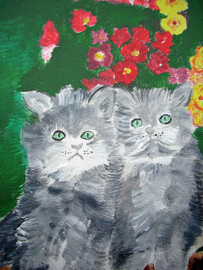 Artwork >> Marie Christine Legeay >> THE CATS