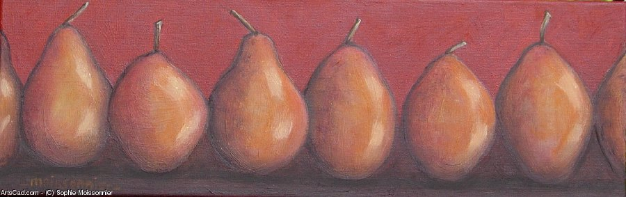 Artwork >> Sophie Moissonnier >> small frieze  from  pears