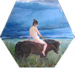 Jiqun Chen - Nude and Horse