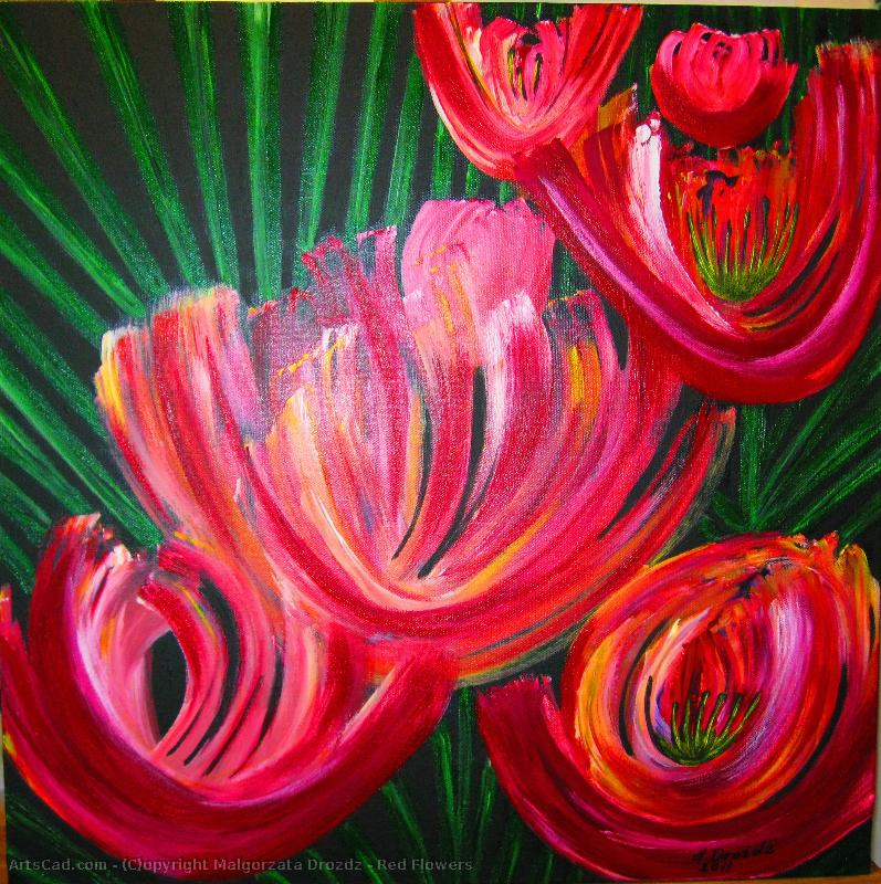 Artwork >> Malgorzata Drozdz >> Red Flowers