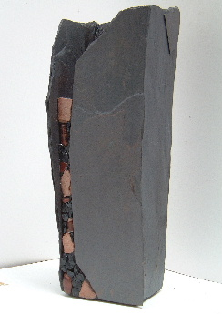 Artwork >> John Quinn >> TALL VASE IN NATURAL STONE, GLASS LINED