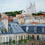 Marie-Claire Houmeau - the roofs up and out the holy Heart from the Paris