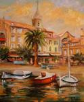Francoise Galland - the port of Sanary