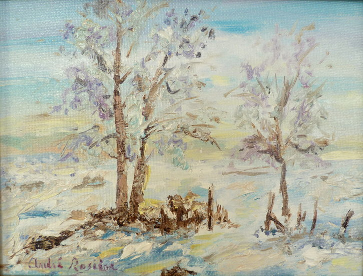 Artwork >> André Rosière >> diminutive landscape from snow