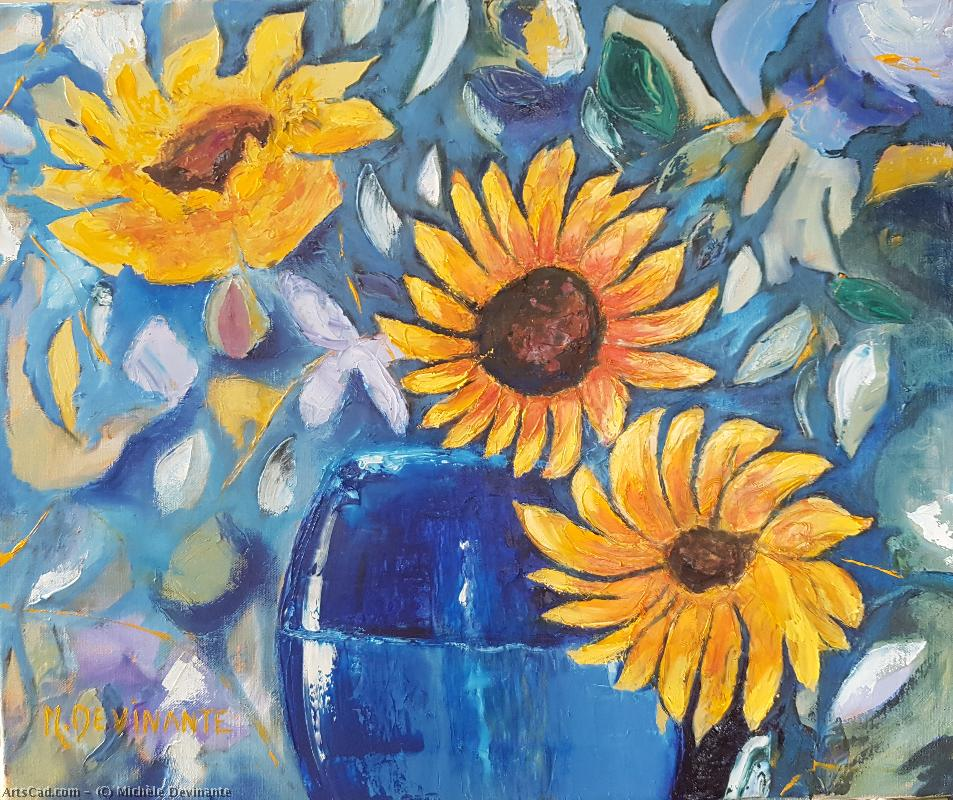 Artwork >> Michèle Devinante >> The sunflowers
