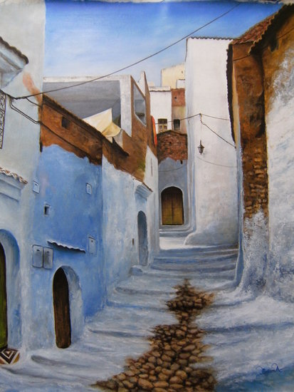 Artwork >> Ahmed Messari >> The charm of chafchaouen