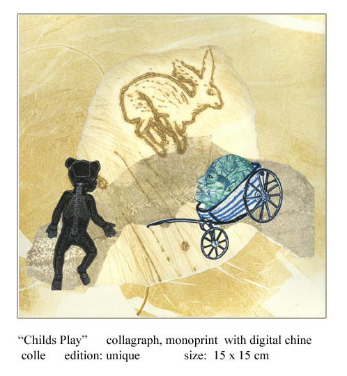 Artwork >> Aine Scannell >> Childs Play  (unique printmaking artwork)