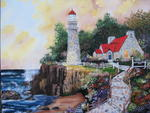 Atelier Marie Tardif - -Phare and relaxation - etude d-après l-oeuvre thomas kinkade by lise HARDY