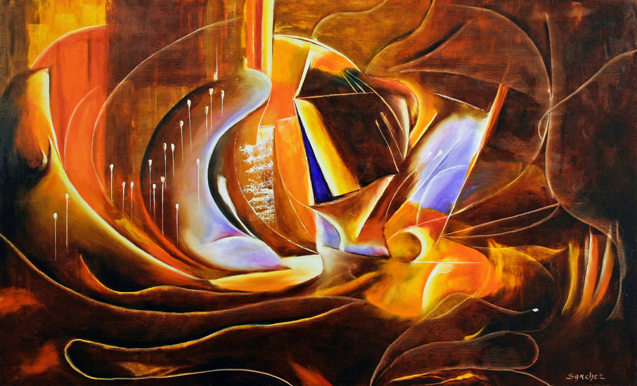 Artwork >> André Sanchez - Artiste Peintre >> Quintessence