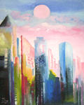 Zhen Lianxiu - city dream 116x20