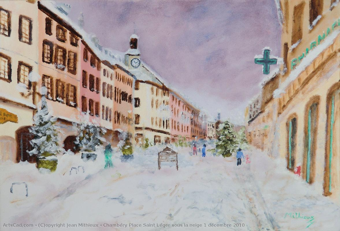 Artwork >> Jean Mithieux >> Chambéry holy place Light under the snowy 1 december 2010