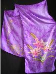 Sylvine Soie - Scarves lily  100%   silk  painted  by hand