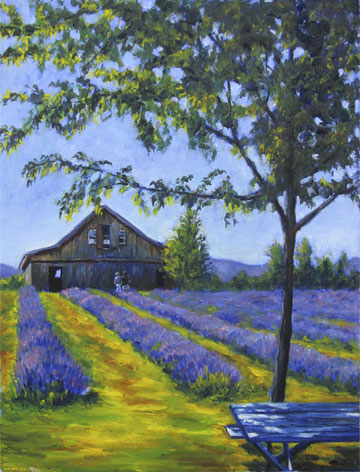Artwork >> René Milone >> with blue lavander