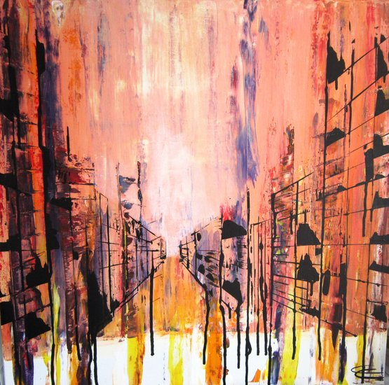 Artwork >> Carline Courtas >> The street