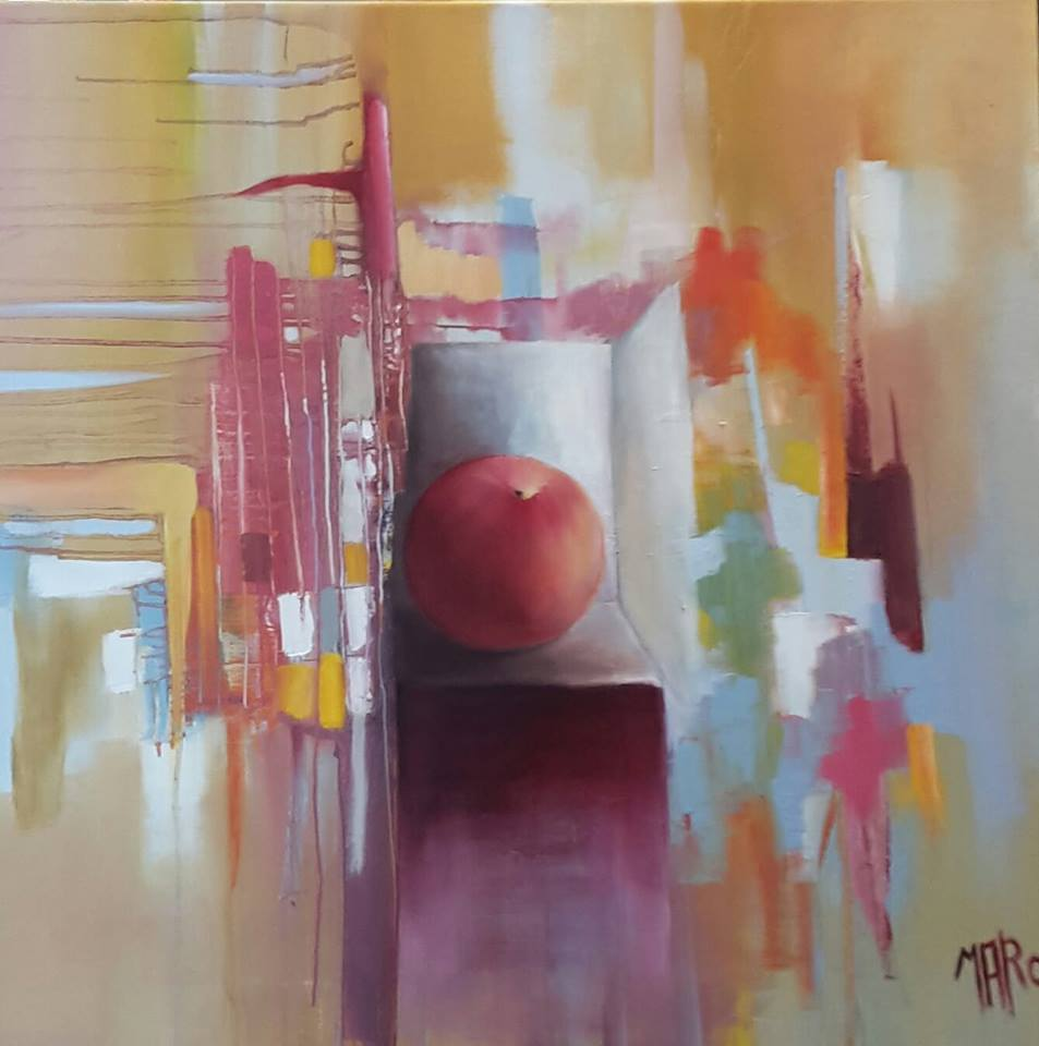 Artwork >> Scott Rorive >> apple up in  box