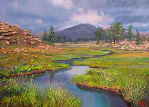 Artwork >> Berangi Parviz >> river