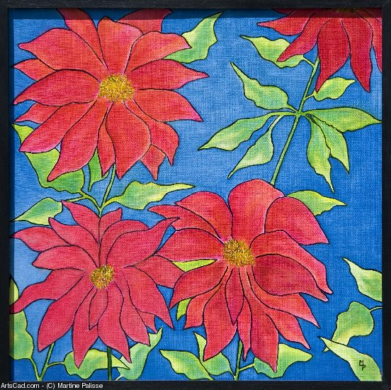 Artwork >> Martine Palisse >> THE POINSETTIAS
