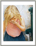 Marie-Claire Houmeau - there little girl  at  there  fountain at