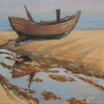Nikolai Kraneis - fisher boat on baltic coast