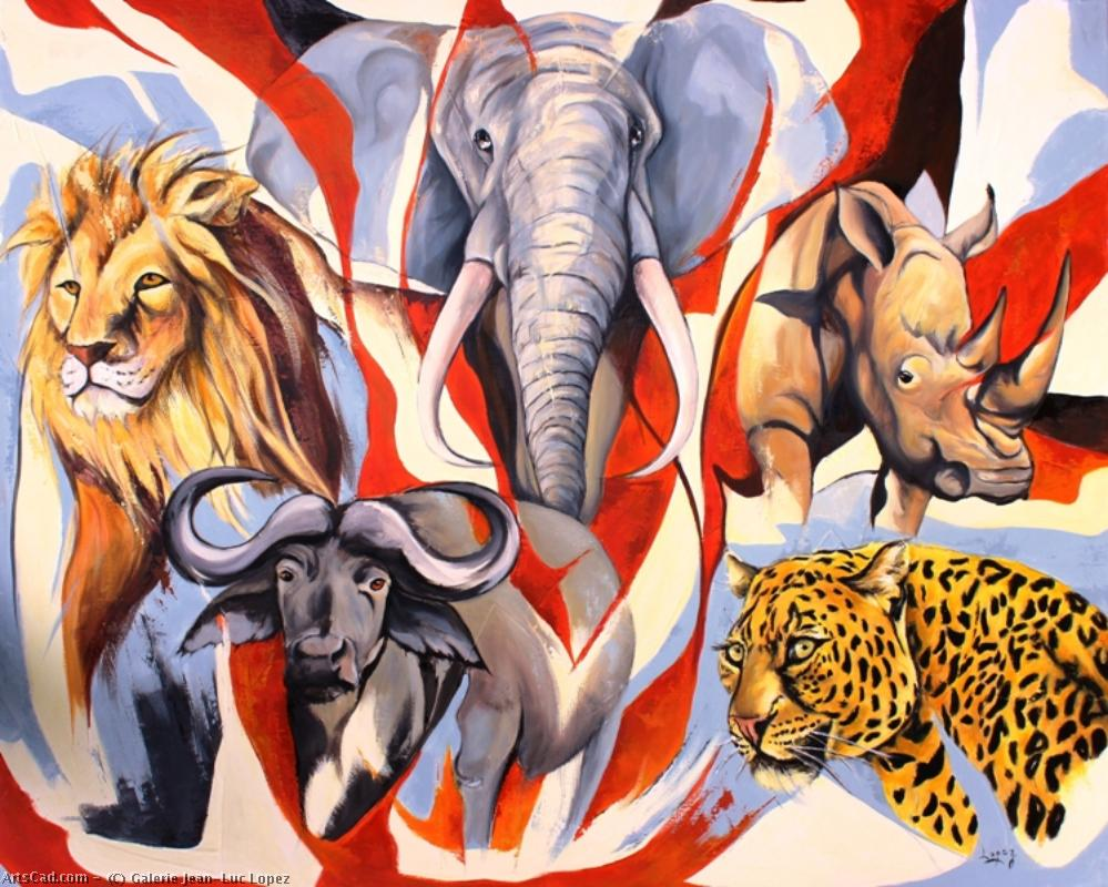 Artwork >> Galerie Jean-Luc Lopez >> south africa big five