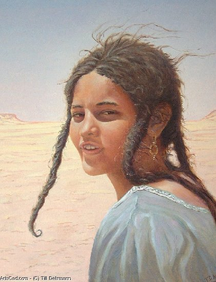 Artwork >> Till Dehrmann >> Young girl Tuareg Imane