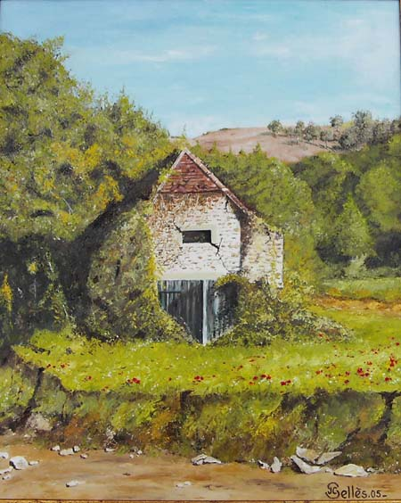 Artwork >> Jean-Claude Selles Brotons >> the barn abandoned béarn