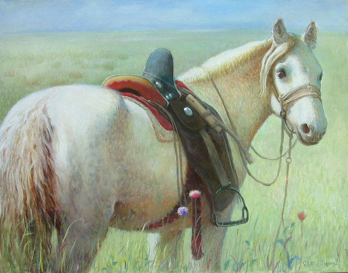 Artwork >> Jiqun Chen >> WHITE HORSE No.5