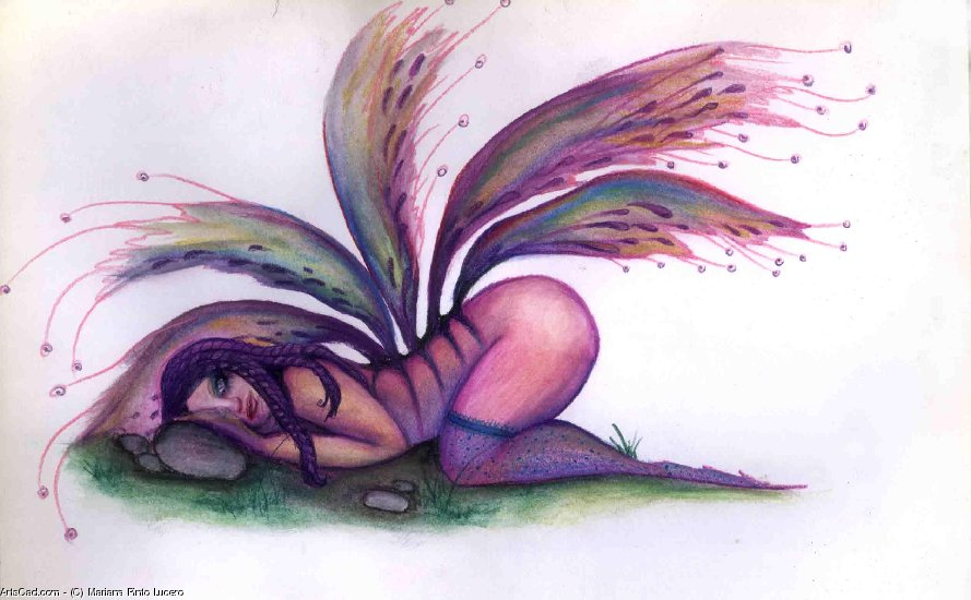 Artwork >> Mariana Pinto Lucero >> Fairy of wings broken