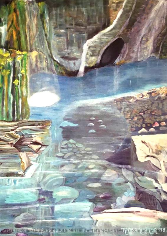 Artwork >> Ruth Miriam Da Natureza >> Cave with water , Mystic