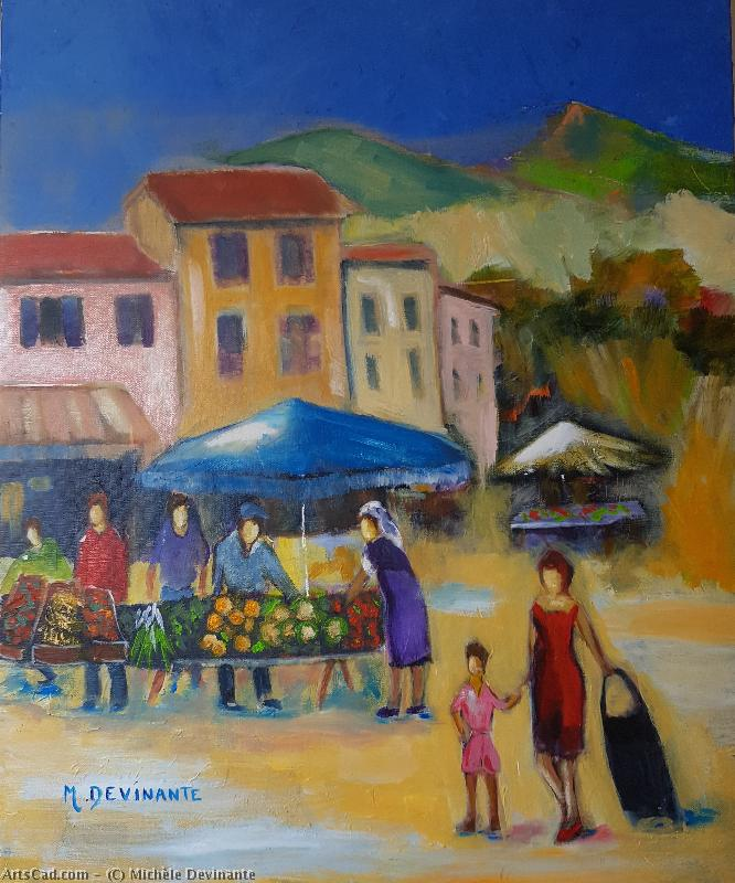 Artwork >> Michèle Devinante >> the market