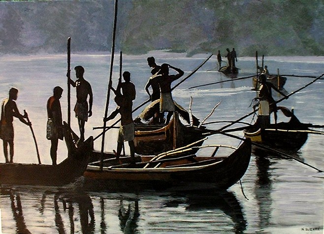 Artwork >> Buzaré Nathalie >> fishermen from  blasted