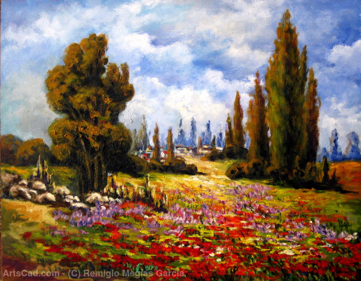 Artwork >> Remigio Megías García >> Fields in spring