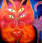 Catherine Vaganay - Psychedelic Cat Serie: Totem Cats