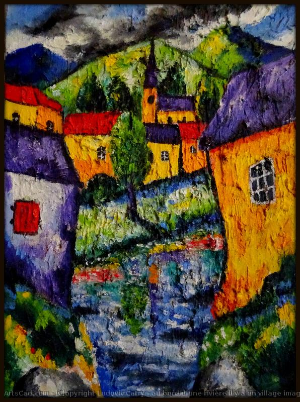 Artwork >> Ludovic Catry >> the edge d'une river the rare a village imaginary