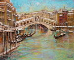 Aimé Venel - Venice , the bridge Rialto