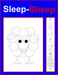 Asbjorn Lonvig - Sleep-Sheep color yourself poster - in English