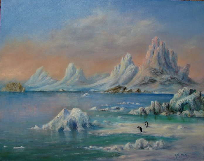 Artwork >> Rita Palm >> The Frozen South
