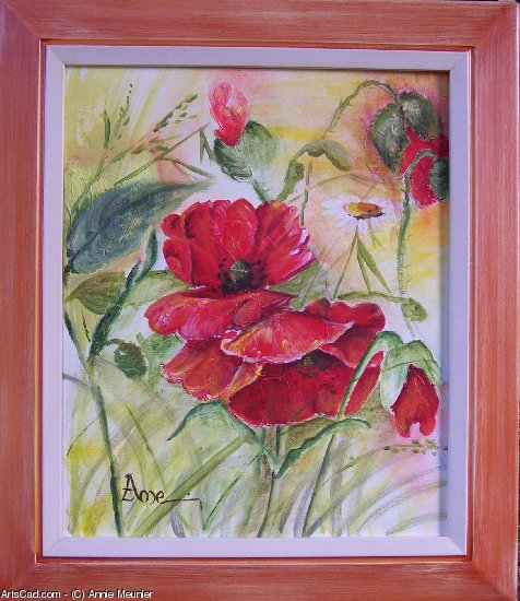 Artwork >> Annie Meunier >> red poppy