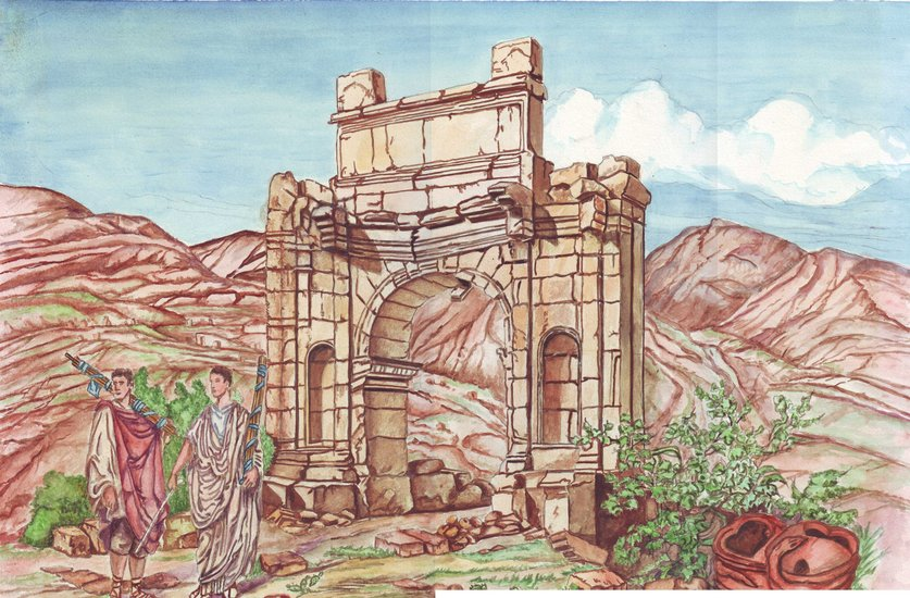 Artwork >> Badr Messikh >> triumphal arch and lictors