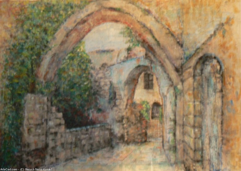 Artwork >> Baruch Neria-Kandel >> An alley in Jaffa