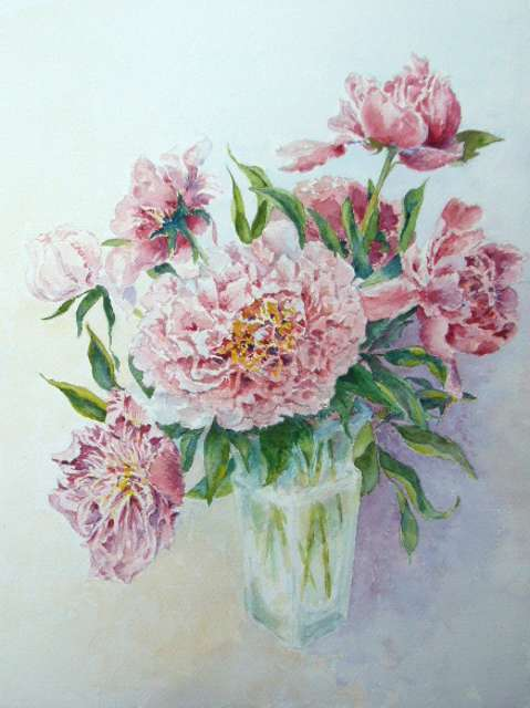 Artwork >> Jacques Fontan >> Peonies