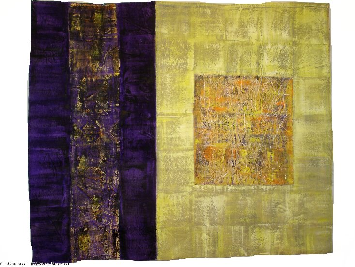 Artwork >> Yves Marcerou >> TARPAULIN up in  gold  up and  purple